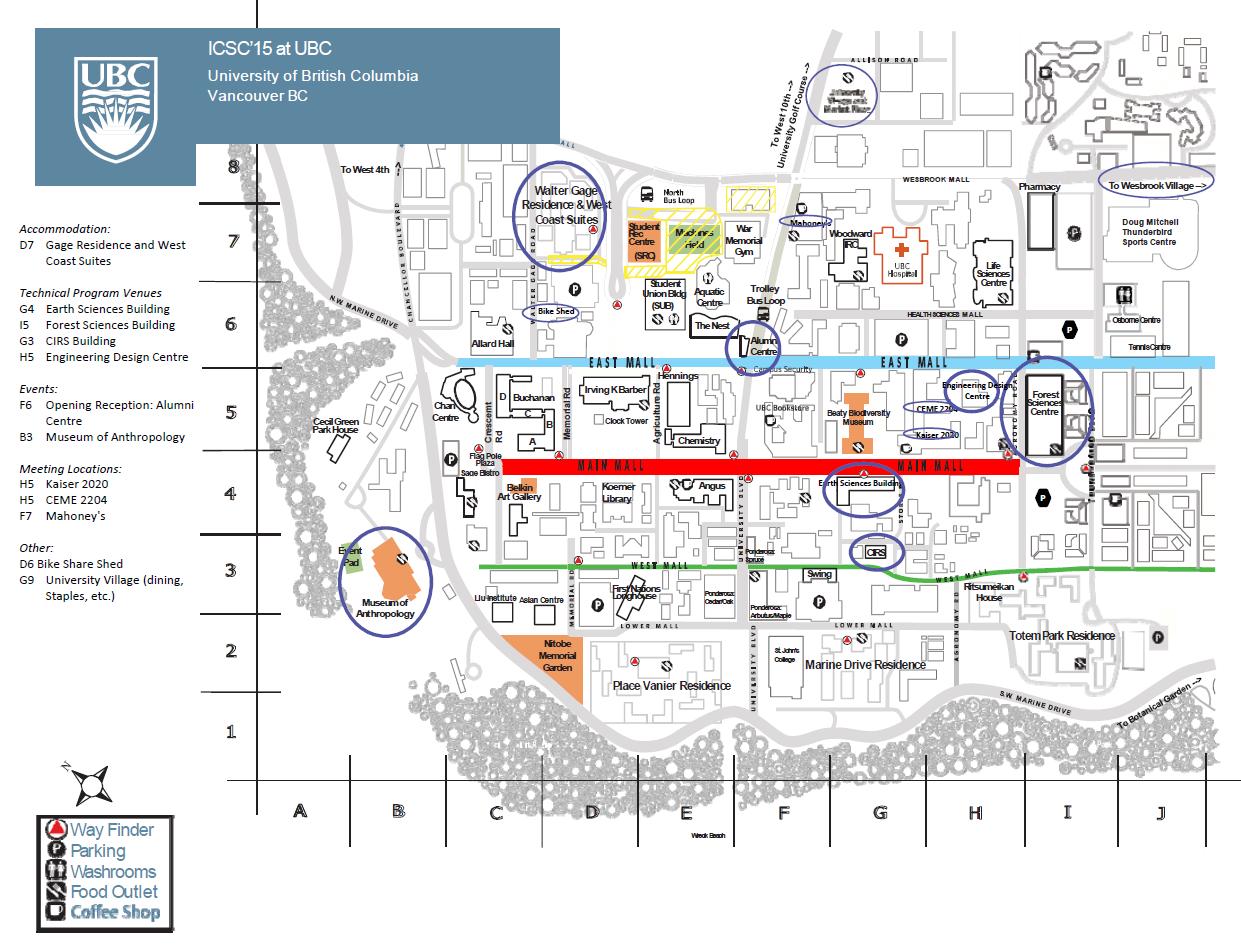 ICSC15 Campus Map